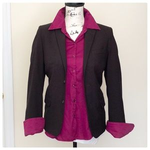 ❤️Plum colored dress shirt long sleeve, stretchy❤️